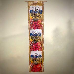 Handmade Batik Ganesha Buddha OM Wall Scroll